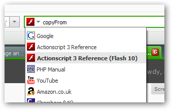 AS3 Flash 10 Search Plugin