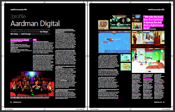 Aardman Digital .NET magazine profile